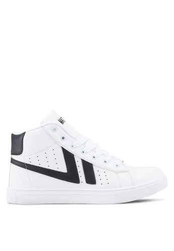 Rocklander white High Top Sneakers 91AC7SH5B857A4GS_1