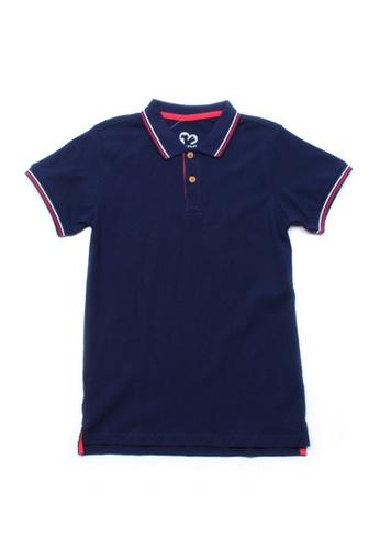 Mini Moley navy Twin Tipped Boy's Polo T-Shirt 1F52FKA48E288EGS_1