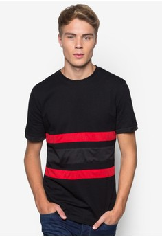 Elongated Mesh Patch-On Tee