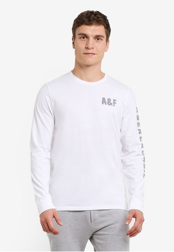 Abercrombie & Fitch white Long Sleeve Legacy T-Shirt AB423AA0S3B1MY_1