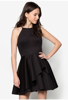 Love Asymmetric Peplum Dress
