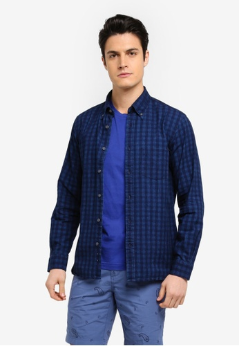Buy brooks brothers red fleece indigo gingham indgingham for Brooks brothers tall shirts