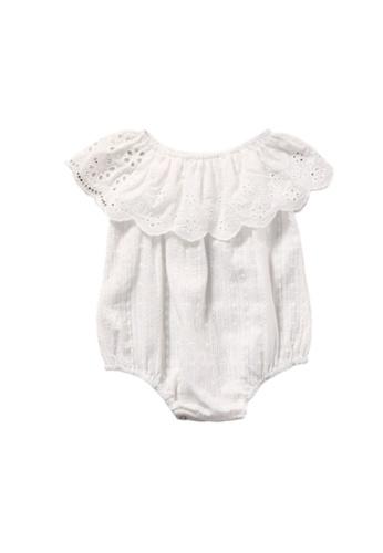 RAISING LITTLE white Clarice Romper 2360EKA524519FGS_1