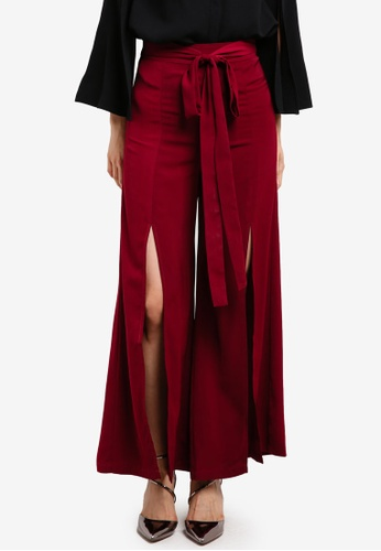 Preen & Proper red Long Pants With Front Slits PR614AA0S9VGMY_1