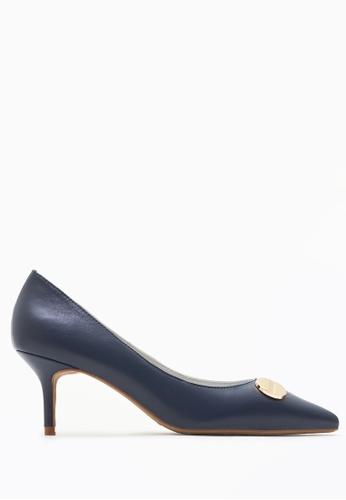 PAZZION navy Duo-toned Classy Heels E8D5ESH8EDCD21GS_1