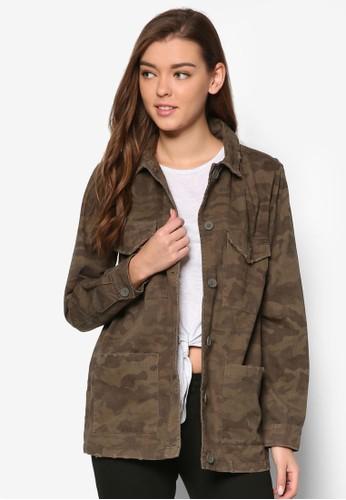 迷彩口袋休閒外套, 服飾esprit台灣, 外套