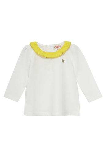 Du Pareil Au Même (DPAM) white Heart Embroidery Blouse 67196KAB0CADD2GS_1