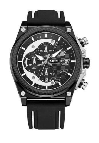 Megir black Japan Design Seiko Movement Megir New Watches 97367ACC1629B9GS_1