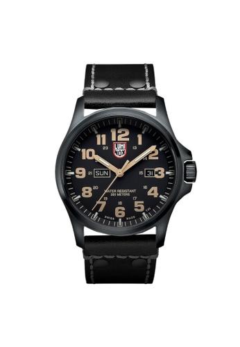 Luminox brown Luminox Atacama Field Black and Tan Leather Watch 9295FACD654078GS_1