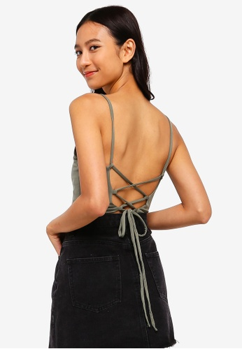 926728808e5 Buy Supre Luxe Tie Back Crop Top Online on ZALORA Singapore