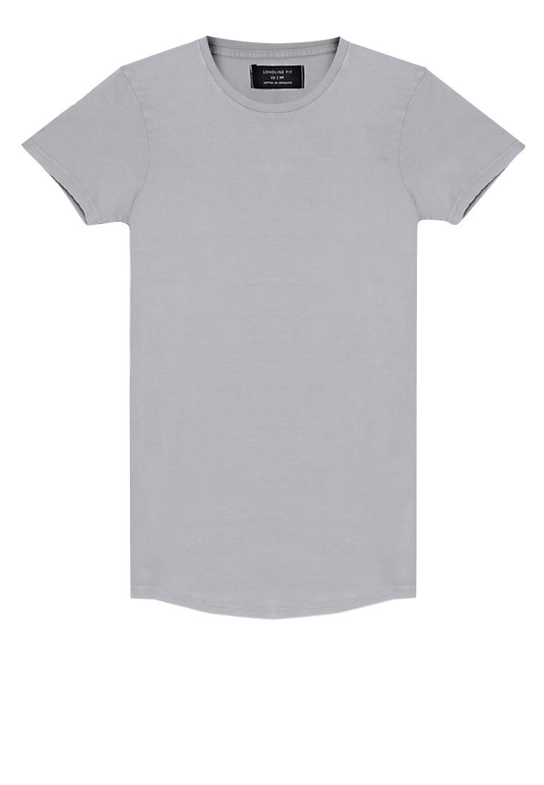 On Cotton Scoop Pocket Hem Overcast Longline Tee Acid Grey x6HTUq