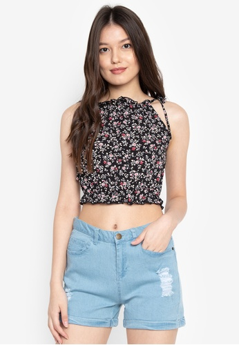Shop BENCH Full Print Sleeveless Crop Top Online on ZALORA Philippines 0d2f9fa7a