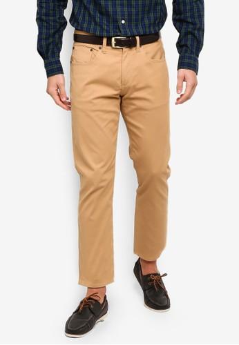 Brooks Brothers beige Red Fleece Five-Pocket Bedford Cords Pants 89687AAA8EF56EGS_1