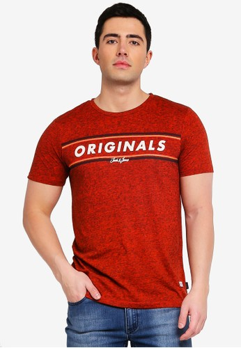 Jack & Jones red Jortuco Printed Tee 1C235AA7070160GS_1