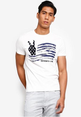 OVS 白色 Americana 72 T恤 EF454AA57E6767GS_1