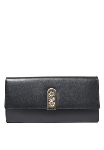 Pierre Cardin black Pierre Cardin Broderick Long Wallet - Black 7E976AC5A19FA7GS_1
