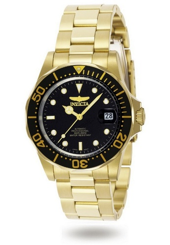 INVICTA gold Invicta Pro Diver Men 40mm Case Gold Stainless Steel Strap Black Dial Automatic Watch 8929 IN968AC0F7EVSG_1