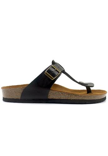 SoleSimple 黑色 Copenhagen - 黑色 百搭/搭帶 軟木涼鞋 98650SHA3FAC19GS_1