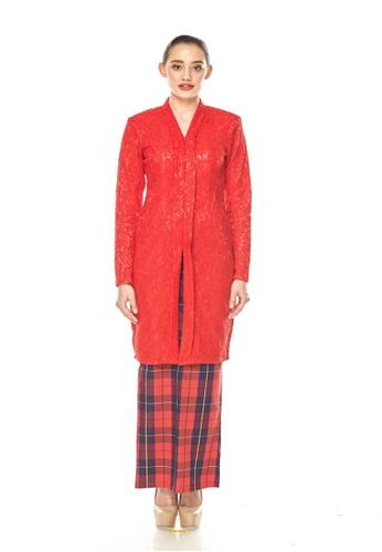 TUSCA red Melissa Classic Kebaya 1351CAAACDDE1CGS_1