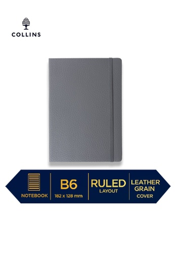 Collins grey Collins Metropolitan Glasgow  ─  Notebook B6 Ruled Grey 8623FHLB4C5DFBGS_1