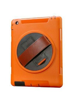 Shockproof Armor Case Silicone 360 Rotating Stand with Leather Belt for Apple iPad 2 3 4