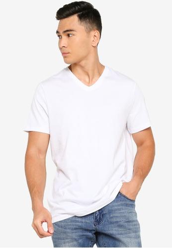 OVS white Plain T-Shirt 3BC6DAA7036A68GS_1