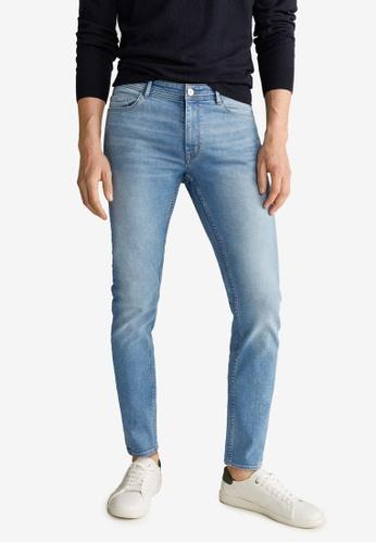 Mango Man blue Medium Wash Jude Skinny Jeans FF8BBAA22FBFEBGS_1