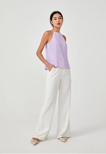 Love, Bonito lilac purple Corvina Pleated Top 9145CAAB0905ADGS_1