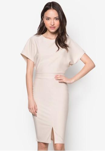 Alya 寬袖貼身連身裙, 服飾zalora 泳衣, 正式洋裝