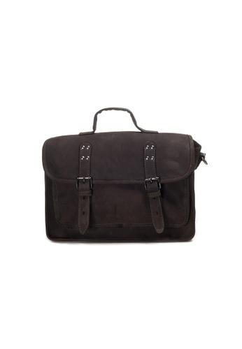 Shu Talk brown Lecca Lecca Calf Leather Top Handle Shoulder Bag 2ABCDAC7260977GS_1