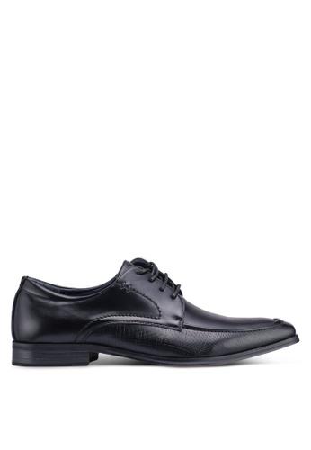 Bata black Faux Leather Dress Shoes 793B6SHC069582GS_1