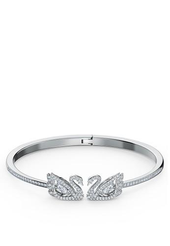 Swarovski silver Dancing Swan:Bangle Czwh/Rhs S A46CBACD394F16GS_1
