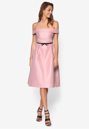 Dorothy Perkins pink Luxe Dusky Pink Bardot Prom Dress DO816AA13HUSMY_1