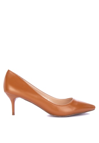 Primadonna brown Pointed Toe Pumps 96E4BSH13B3AFBGS_1