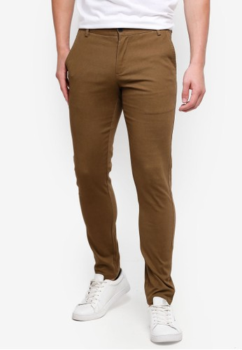 High Cultured brown Long Pants-121 CFF64AAD5D2069GS_1