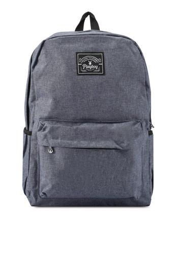 Playboy blue and navy Playboy Casual Backpack PL371AC0SK0IMY_1