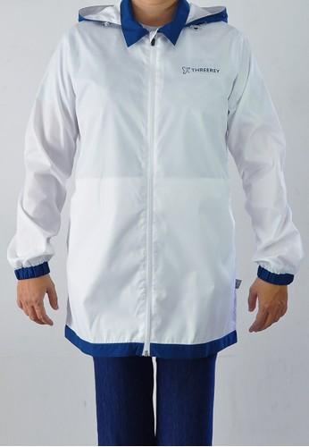 ThreeRey white and blue Threerey Jaket Coat wanita - CORY TX58001BIRU S-M 5BA7CAA54A523AGS_1