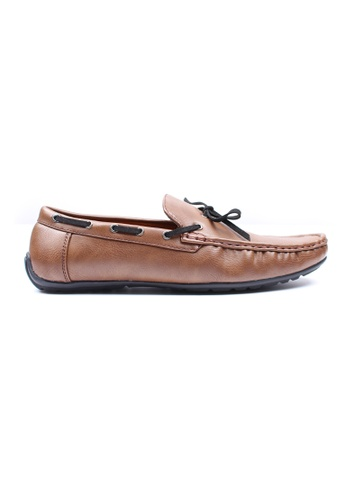 Moley brown Casual Loafers with Suede Lace MO329SH0GNQJSG_1