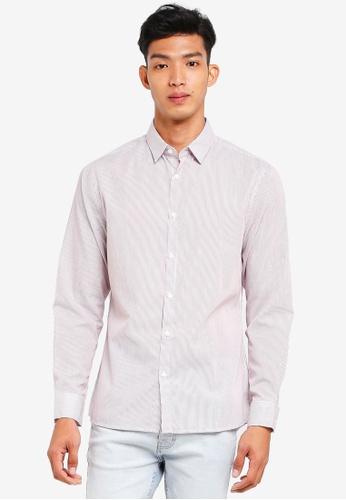 Cotton On red Slim Smart Shirt C1D8FAA5D52902GS_1