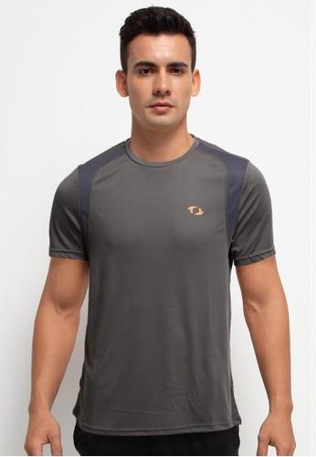 Astec grey Damien Basic T-Shirts 7853EAADABF0D7GS_1