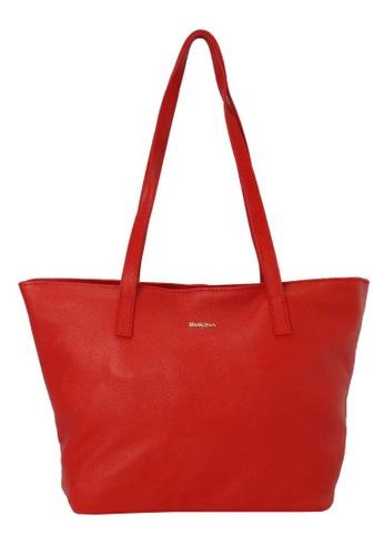 SEMBONIA red SEMBONIA Genuine Leather Tote Bag SE598AC85RKSMY_1