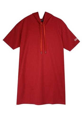 Cheetah red Cheetah Ladies Short Sleeve Hooded Dress - CL-19616 AAC9CAAE59C269GS_1