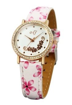 OLJ Belle Leather Strap Watch B1644