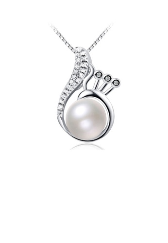 Glamorousky white 925 Sterling Silver Mother's Day Freshwater Pearl Pendant with Necklace 080A8AC6418030GS_1