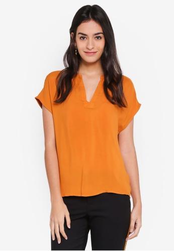 Vero Moda orange Lou Short Sleeve Top 15000AAF75DBC4GS_1