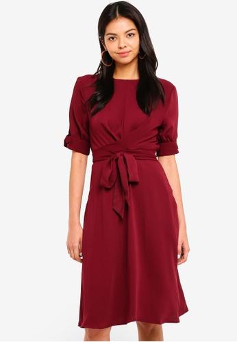 ESPRIT red Light Woven Midi Dress 00B6FAABA22A62GS_1