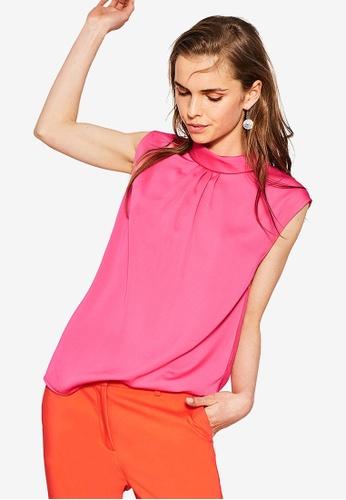 Esprit pink Sleeveless Blouse ES374AA96CNRMY_1
