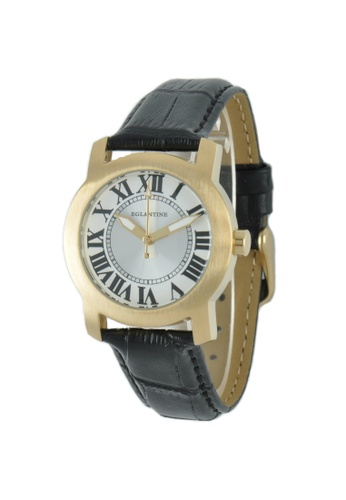 EGLANTINE gold EGLANTINE® Emily Ladies Gold Plated Steel Quartz Watch on Black Leather Strap 38C49AC1CEB7EEGS_1