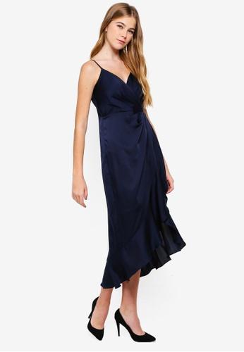 Forever New navy Tamsin Drape Wrap Midi Dress B88A6AA8AB3243GS_1