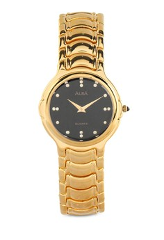 Image of Alba Round Watch Agy86C Black